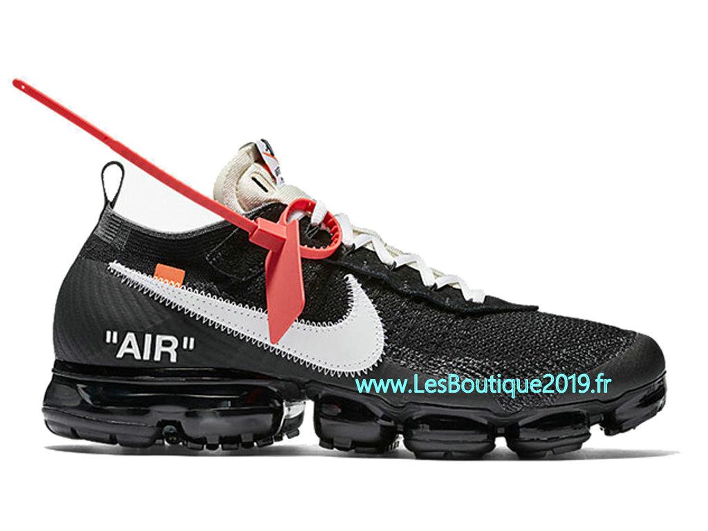 outlet store 145e4 db7b0 Off White x Nike Air VaporMax 10X Noir Blanc Chaussure de Running Pas Cher  Pour Homme ...