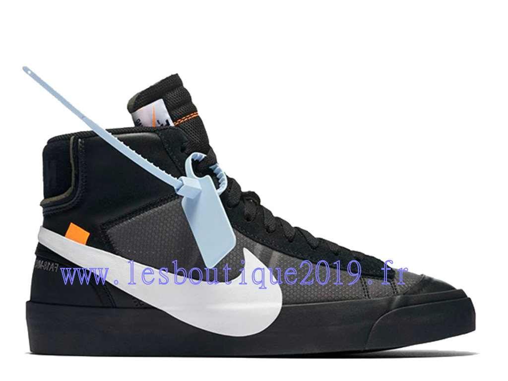 sports shoes 86126 62d55 Off-White x Nike Blazer Mid Black White Men´s Nike Running Shoes AA3832